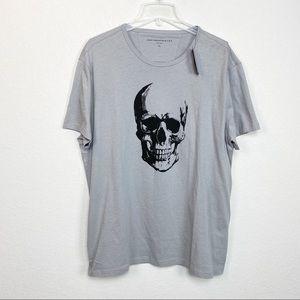John Varvatos Gray Skull Tee size XL NWT